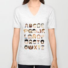Star Trek Alphabet Unisex V-Neck