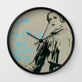 Princess Leia Death Star Wall Clock