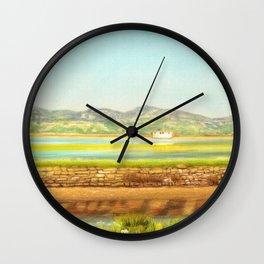 SPRING COLORS IN SALINAS Wall Clock