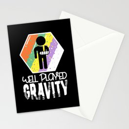 Well Played Gravity - Get Well Broken Arm Fun Gift Stationery Cards
