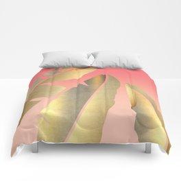 Shining Banana Leaves Comforters
