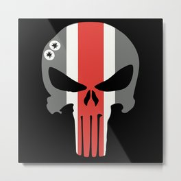 Buckeye Skull Metal Print