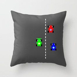 C64 Le Mans Throw Pillow