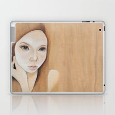 Self Portrait on Wood Laptop & iPad Skin