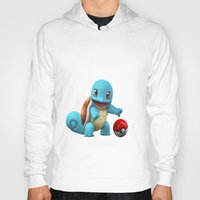 squirtle Hoodies featuring Squirtle 2 by Yamilett Pimentel