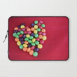 Skittles Heart Laptop Sleeve