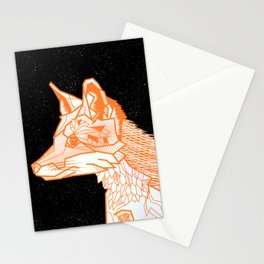 Fox geometric Stationery Cards