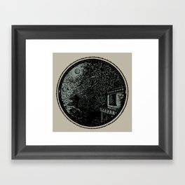 Miniature Circle Landscape 1: Morning Vision Framed Art Print