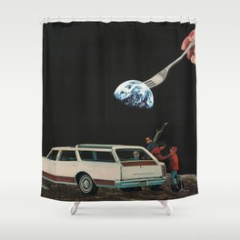 55 - it'll be OK sweetie, you'll forget about it soon enough Shower Curtain