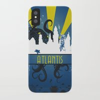 aquaman iPhone & iPod Cases featuring Atlantis by Angela S