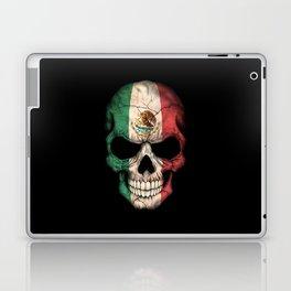 Dark Skull with Flag of Mexico Laptop & iPad Skin