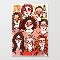 oitnb Canvas Prints featuring OITNB by Luiza Abend
