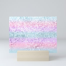Unicorn Girls Glitter #11 #shiny #pastel #decor #art #society6 Mini Art Print