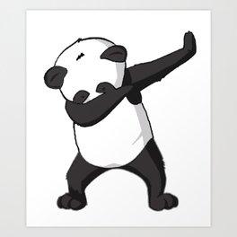 -DAB- Panda DAB Art Print