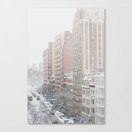 Upper West Side Snow - New York City Photography Canvas Print
