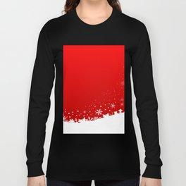 Red Snowflake Scene Long Sleeve T-shirt