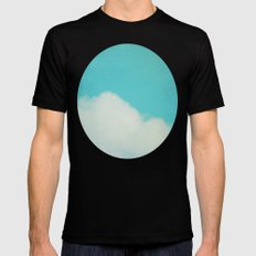 Reclining Cloud MEDIUM Mens Fitted Tee Black