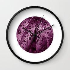 purple rain II Wall Clock