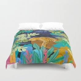 Sleeping Panther Duvet Cover