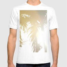 Sunny Palms Mens Fitted Tee White MEDIUM
