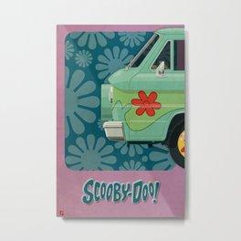 Mystery Machine - Scooby-Do!  I/III Metal Print