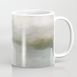 Modern Abstract Painting, Light Teal, Sage Green, Gray Cloudy Weather Digital Prints Wall Art, Ocean Coffee Mug