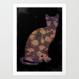 Cat Amongst the Pigeons Art Print
