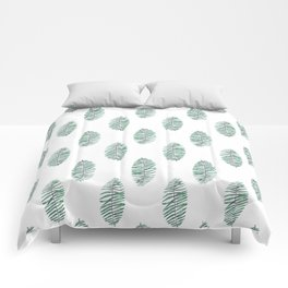 palm leaves in rows soft Comforters