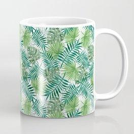 Mini Green Monstera Tropical Plant Pattern Coffee Mug