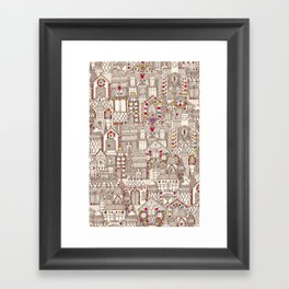 gingerbread town Framed Art Print
