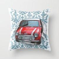 mini Throw Pillows featuring Mini by Magdalena Almero