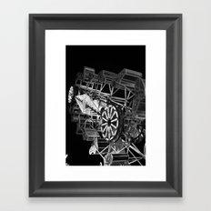 Lifes Ride (black and white) Framed Art Print