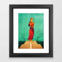 MISS SPRING Framed Art Print