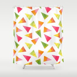 Beautiful Colorful Triangles Shower Curtain