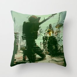 a place to bury strangers band Throw Pillow
