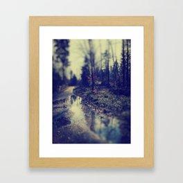 In the forrest Framed Art Print