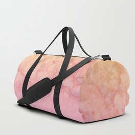 Marbled gold stone with a blush ombre shade decorative design Duffle Bag