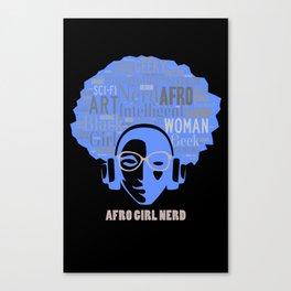 Afro Nerd Girl Canvas Print
