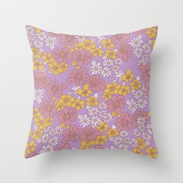 FLOWERS IN BLOOM Throw Pillow