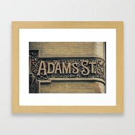 Adams Street Framed Art Print