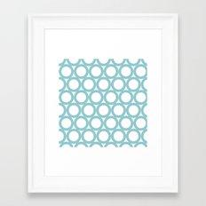 Aqua dots- pattern Framed Art Print