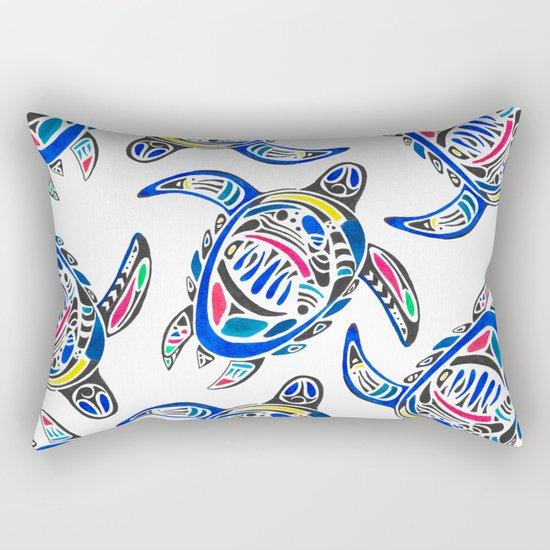 Declan The Sea Turtle Rectangular Pillow