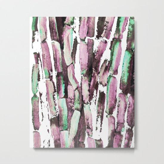 Purple Sugarcane on Greenery Metal Print