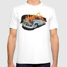 Caddy Rat Rod MEDIUM White Mens Fitted Tee