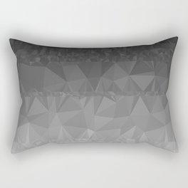 Black and Grey Ombre Rectangular Pillow