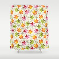 daenerys Shower Curtains featuring Flowers Pattern                       by albert Junior