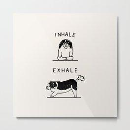 Inhale Exhale  St. Bernard Metal Print