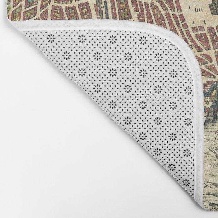 Lisbon map Bath Mat
