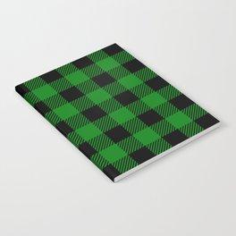 Green Buffalo Plaid Notebook