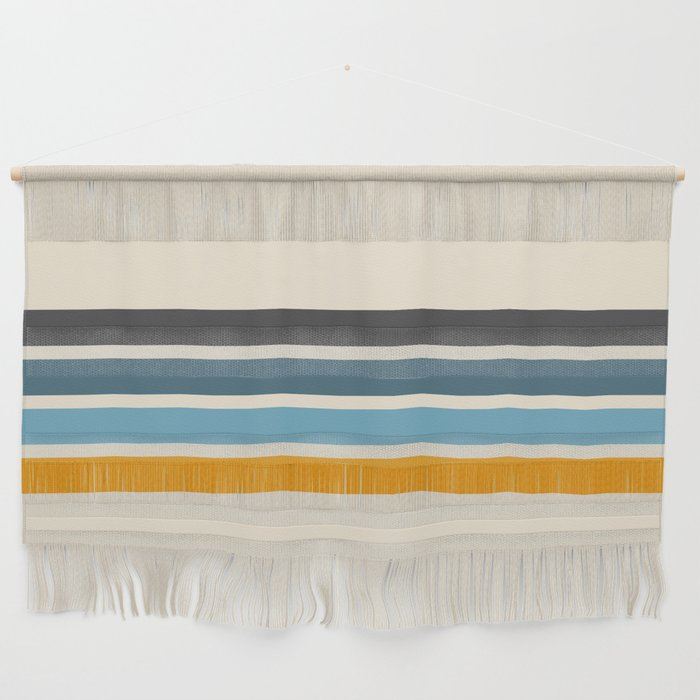Vintage Retro Stripes Wall Hanging